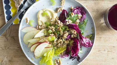 "Recipe: <a href=""http://kitchen.nine.com.au/2017/08/10/15/47/new-waldorf-salad"" target=""_top"" draggable=""false""><strong>New Waldorf salad recipe</strong></a>"