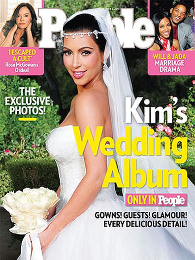 Kim Kardashian poses for a portrait ahead of her wedding to Kris Humphries in 2011.