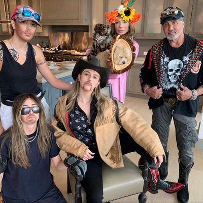 Sylvester Stallone, Jennifer Flavin, Sistine, Sophia and Scarlet