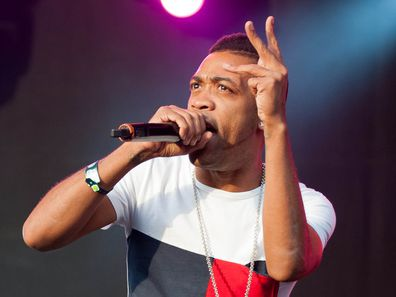 Rapper, Wiley, performs on stage, Fusion Festival 2013, Birmingham, England.