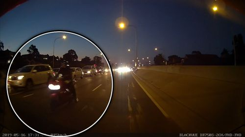 190601 Blacktown Sydney road rage incident armed motorcyclist dash cam footage crime news NSW Australia