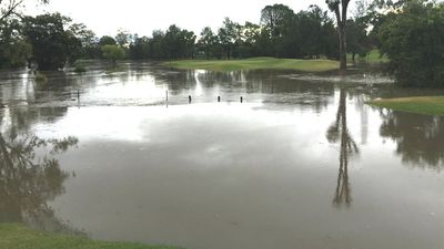 The green on the 13th hole was also completely submerged (Liz Sharp)