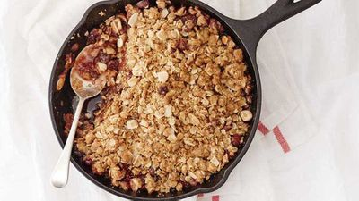 "Recipe: <a href=""http://kitchen.nine.com.au/2017/08/08/16/53/barkers-blackcurrant-breakfast-crumble"" target=""_top"">Barker's blackcurrant breakfast crumble recipe</a>"