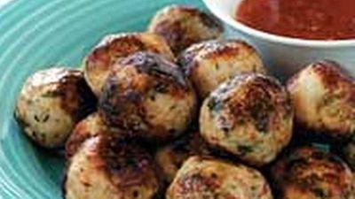 """<a href=""""http://kitchen.nine.com.au/2016/05/18/02/27/thai-chicken-balls"""" target=""""_top"""">Thai chicken balls</a> recipe"""