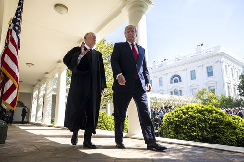 Supreme Court Justice Anthony Kennedy announced his retirement Wednesday, giving President Donald Trump a golden chance to cement conservative control of the high court (EPA/JIM LO SCALZO).