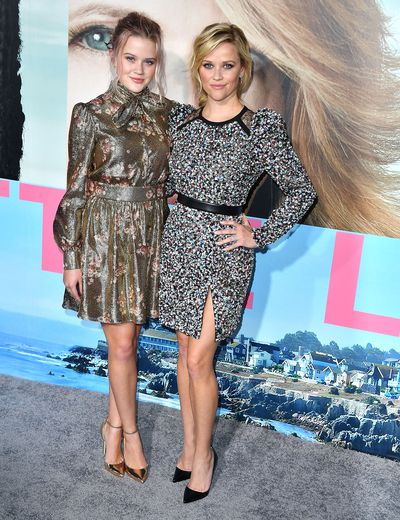 Ava Phillippe and Reese Witherspoon at the premiere of <em>Big Little Lies</em> in Hollywood, February, 2017