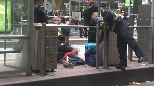 The man was heard on a CBD tram making racist remarks before threatening to shoot passengers on-board. Picture: Supplied.