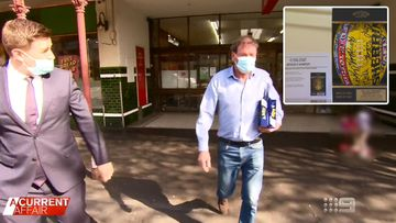 Ricky Nixon confronted over alleged dud footy signatures
