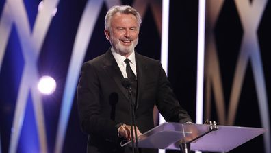 Sam Neill accepts the Longford Lyell Award during the 2019 AACTA Awards Presented by Foxtel at The Star on December 04, 2019