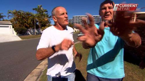 A Current Affair tracked down Chris Dawson (right), Lyn's husband at the time, who was accused by two coroners of her murder.