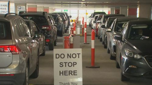 There are long testing queues across Melbourne and Victoria.