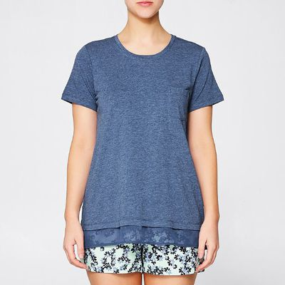 """<a href=""""https://www.target.com.au/p/modal-blend-sleep-top/60399687"""" target=""""_blank"""">Target Modal Blend Sleep Top in Chambray Blue, $15</a>"""