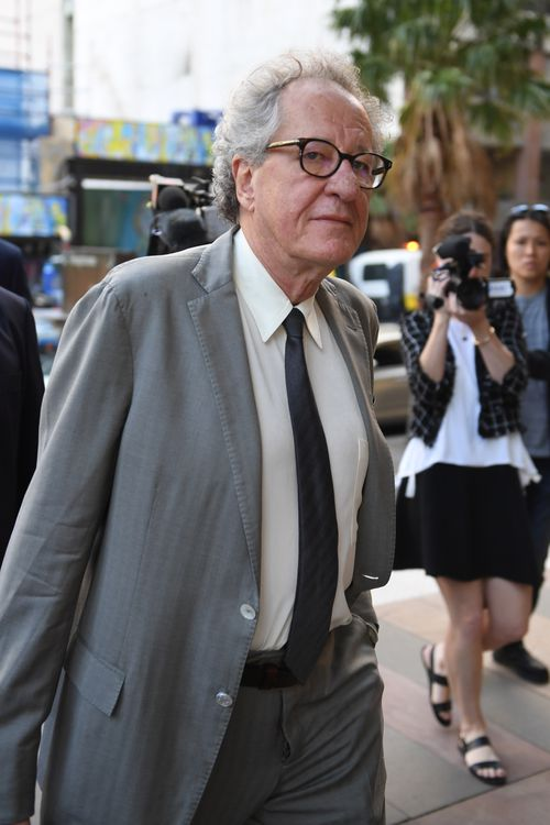 Geoffrey Rush has attended court again in the defamation case against Nationwide News and Jonathan Moran.