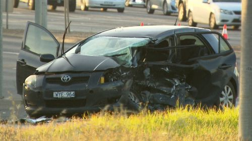 The driver of the Yaris is in a critical condition at hospital.
