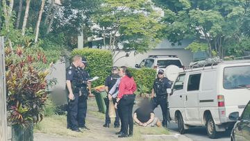 Police tracked down the teens to a street on the Gold Coast.