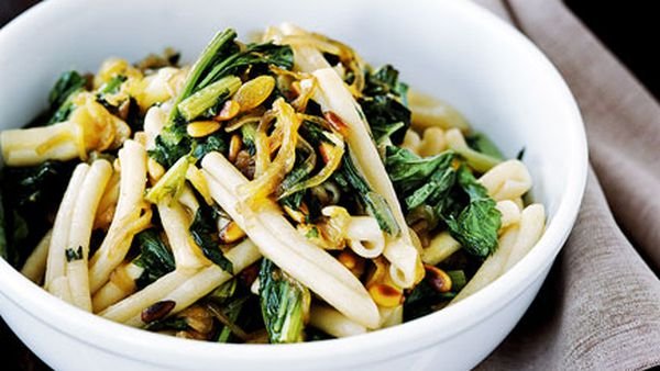 Casarecce with sweet and sour broccoli rabe