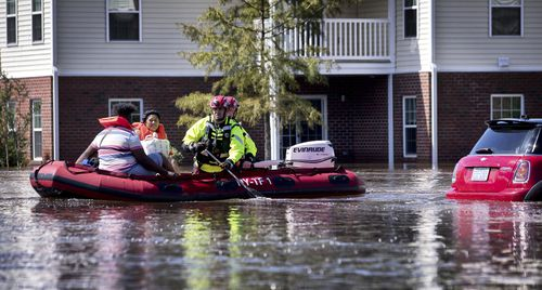 Thousands of evacuees have been told not to return home yet after Hurricane Florence unleashed epic floods.