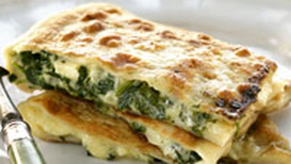 Spinach and fetta parcels