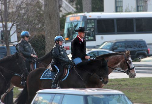 Mr Zinke drew attention from his first day on the job, when he road a horse across Washington's National Mall to the Department of Interior.