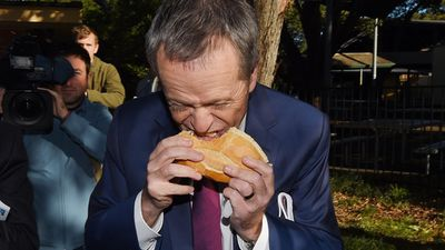 Labor leader Bill Shorten has confounded the country by eating his #democracysausage sideways on election day.<br> <strong><br> Click through the gallery to see some more colourful moments from the day as Australia votes. </strong>