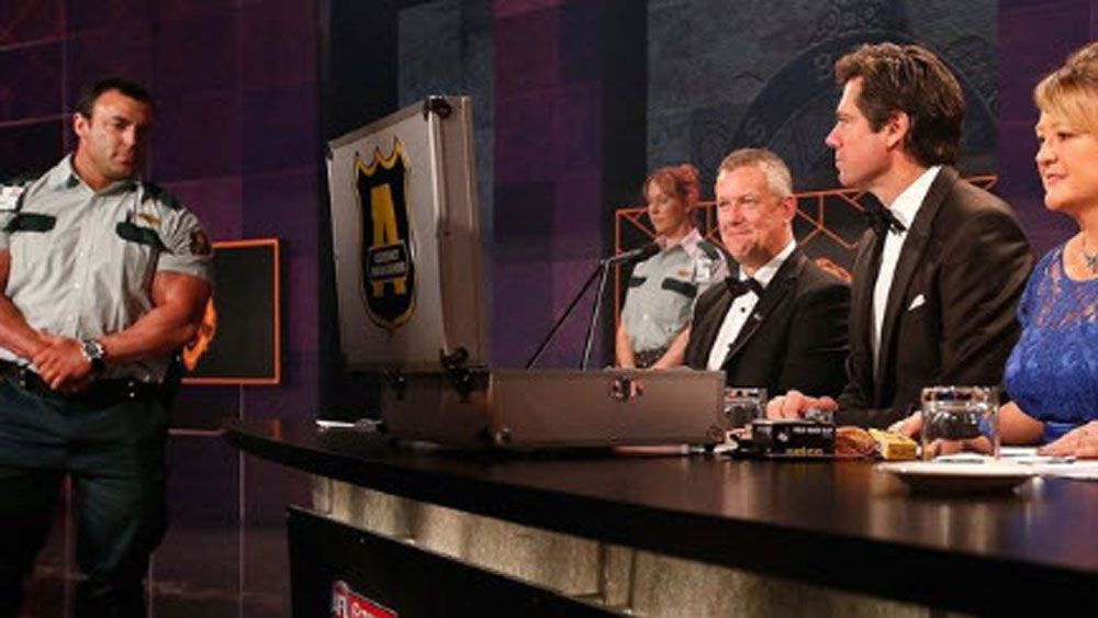 AFL: Ripped security guard steals the show of Brownlow Medal