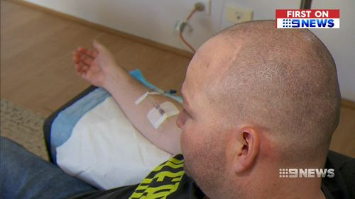 Two major operations and multiple trips to the oncologist later, and the treatments have begun to take to take a toll on the former truckie's family. Picture: 9NEWS