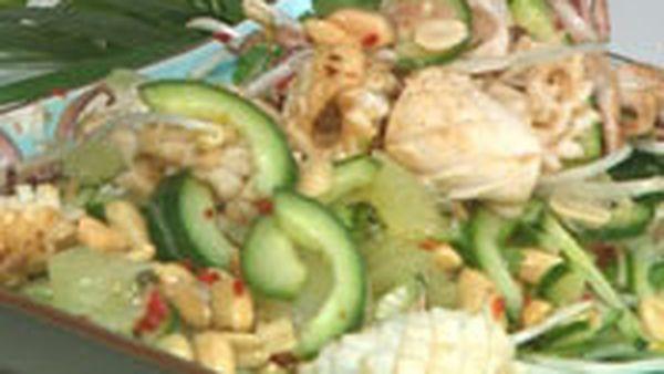 Barbecue squid salad