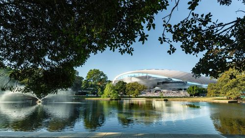 The architects behind the design also build the first Sydney Football Stadium design in 1985.