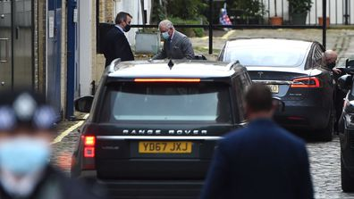 Prince Charles, Prince of Wales visits King Edward VII hospital where Prince Philip, Duke of Edinburgh is currently receiving treatment on February 20, 2021 in London, England