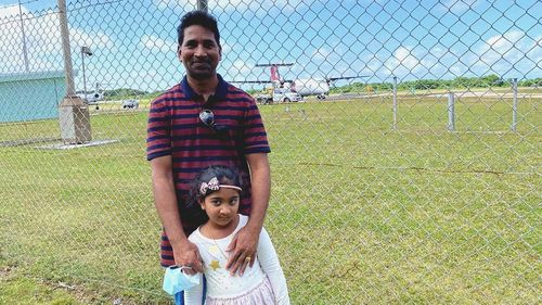 Priya's husband Nades and daughter Kopinka have now left Christmas Island and are en route to Perth.