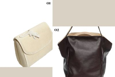 """<p><b></b></p><p><b>Good things come in small packages, and while this season's mini bags are a great case for streamlining your possessions, sometimes your haul calls for something more. Look for other-halves that will perfectly complement each other without sacrificing practicality. Just call us Cupid.</b></p><p></p><p><b>01.</b> <a href=""""http://shop.ameliepichard.com/product/abag-white-sponge"""" target=""""_blank"""">Abag White Sponge, approx. $819, Amelie Pichard</a></p><p><b>02.</b> <a href=""""https://www.a-esque.com/product/womens-new-pieces/basket-raw-2/"""" target=""""_blank"""">Basket Raw Bag, $800, Aesque</a></p><p></p>"""