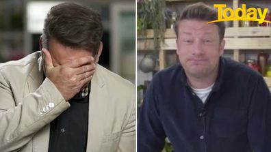 Jamie Oliver forced to act as 'counsellor' to Karl Stefanovic