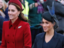 Kate, the Duchess of Cambridge and Meghan, the Duchess of Sussex.
