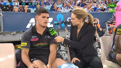 Penrith and NSW left to sweat as young gun Nathan Cleary injures knee
