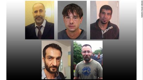 Five of the victims have been identified as, from top left, Majeed Kayhan, 58; Dean Lisowick, 47; Soroush Mahmudi, 50; Selim Esen, 44 and Andrew Kinsman, 49. Picture: CNN
