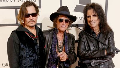 Johnny Depp, Joe Perry and Alice Cooper (Getty)