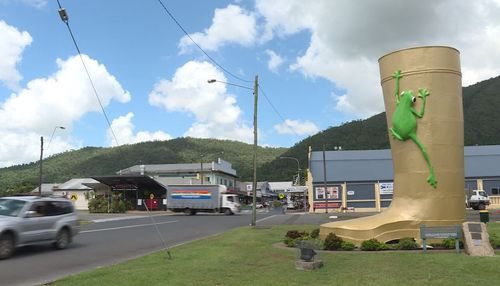 Tully is home to the famous Golden Gumboot. (9NEWS)