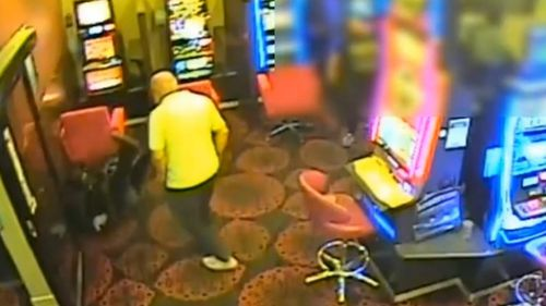 Detectives in Melbourne have released CCTV of a robbery in St Albans, where two men stormed a gaming venue with a machete and a metal pole.