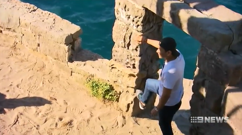 The cliff edge is a popular spot for people who climb the fence to try and get the ultimate selfie.