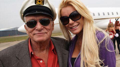Hugh Hefner's runaway bride moves back into the Playboy Mansion