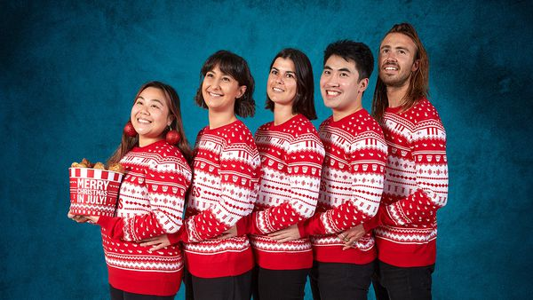 KFC Australia Christmas in July sweaters