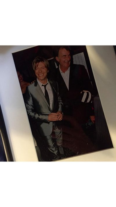 "British fashion designer Paul Smith, a friend of Bowie's, posted this image to Instagram along with his ""great sympathy""."