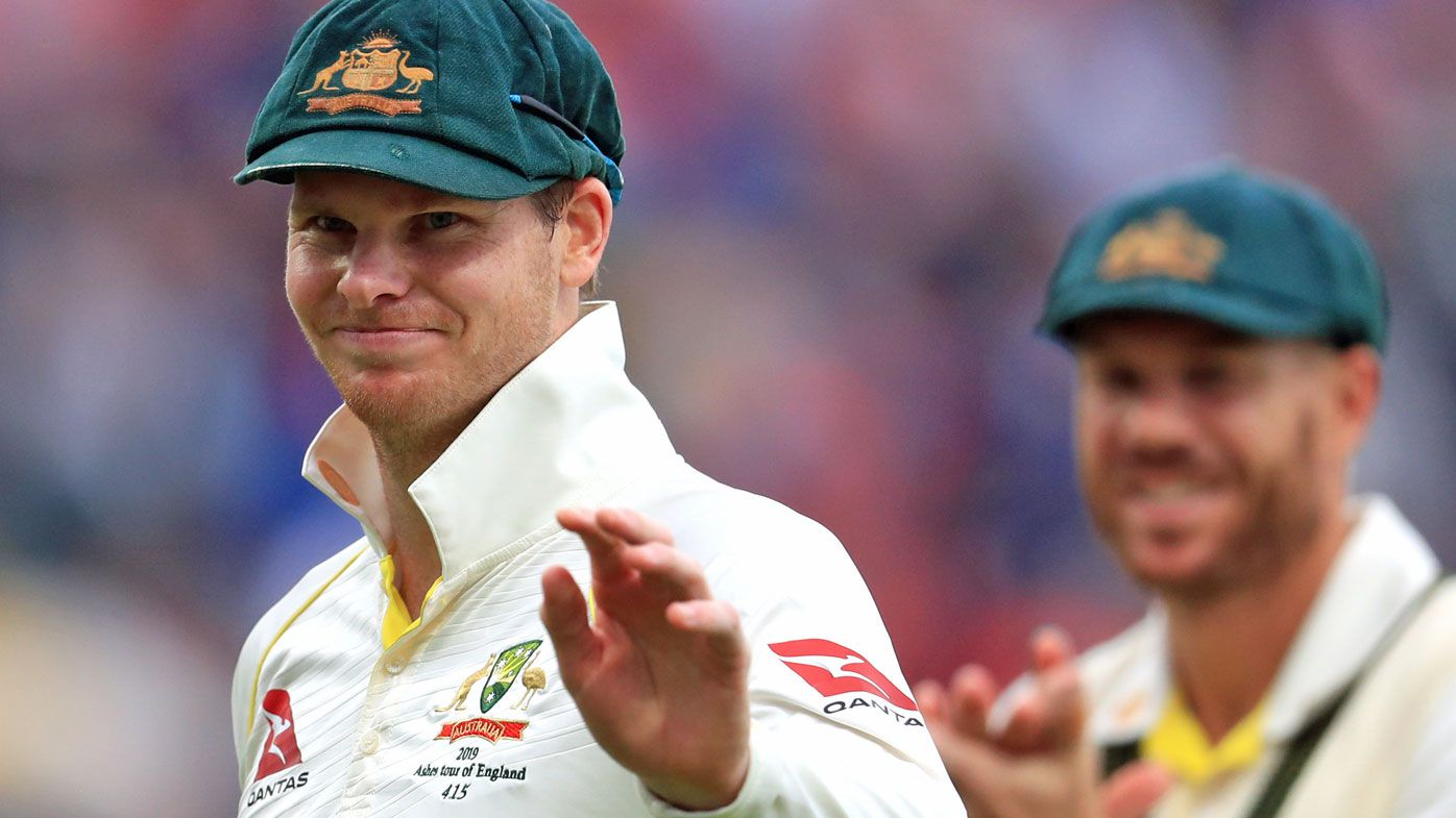 Steve Smith on day one of the Ashes Test
