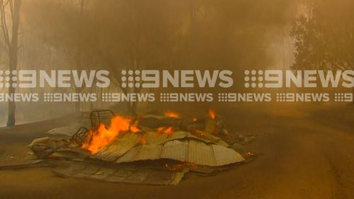 Properties have been destroyed in Rappville, NSW.
