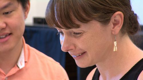 Scientist Rachaek Peak, 38, says remembering simple everyday tasks is a struggle since she suffered a stroke in her 20s. She is keen to participate in a trial of the growth hormone. Picture: 9NEWS