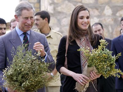 Queen Rania with Prince Charles, 2004