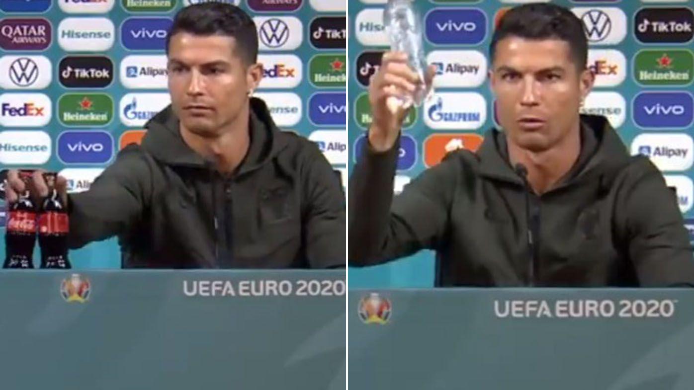 Cristiano Ronaldo costs Coca-Cola $5.2 billion share price drop with Euros water stunt