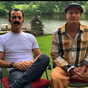 Woody Harrelson and Justin Theroux surprise TV legend on their 99th birthday