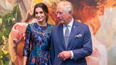Queen Letizia meets with Prince Charles at :London's National Gallery, March 2019