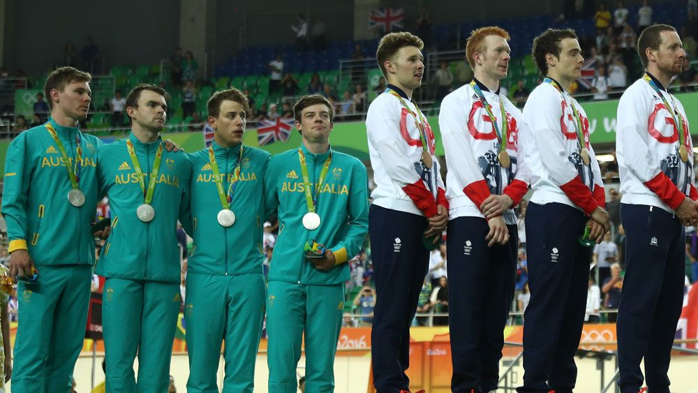 The sight of Australian competitors looking up at their British rivals was a common one in Rio. (Getty Images)